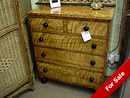 victorian satinwood chest